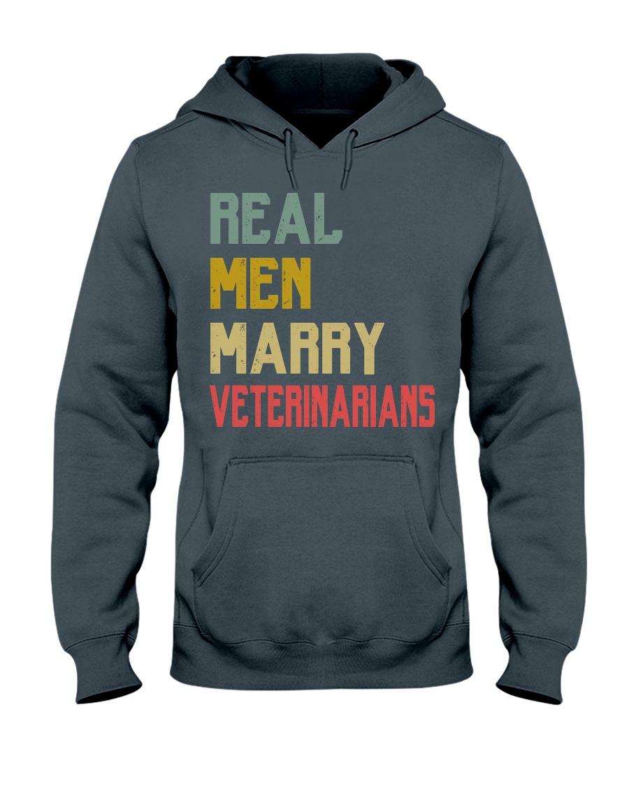 Real Men Marry Veterinarians Hooded Sweatshirt