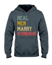 Real Men Marry Veterinarians Hooded Sweatshirt front