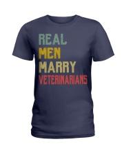 Real Men Marry Veterinarians Ladies T-Shirt thumbnail
