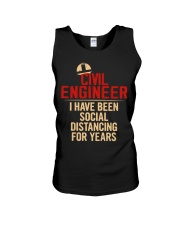 Civil Engineer Social Distancing For Years Unisex Tank thumbnail