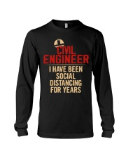Civil Engineer Social Distancing For Years Long Sleeve Tee thumbnail