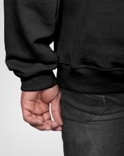 Vintage Psychologist Knows More Than He Says Hooded Sweatshirt garment-hooded-sweatshirt-detail-back-hip-02