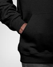 Vintage Psychologist Knows More Than He Says Hooded Sweatshirt garment-hooded-sweatshirt-detail-front-bag-02