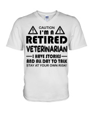 Retired Veterinarian Have Stories and All Day V-Neck T-Shirt thumbnail