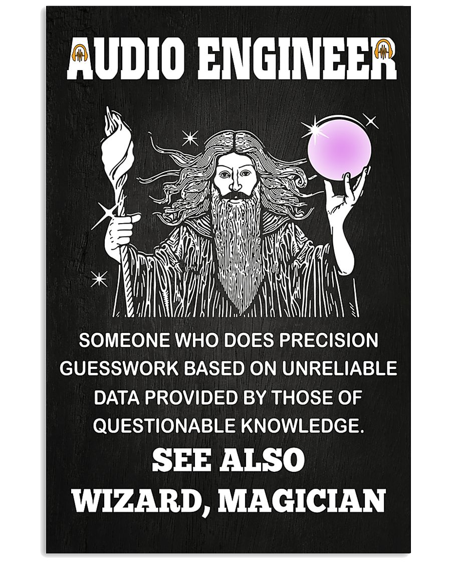 Audio Engineer See Also Wizard Magician 11x17 Poster