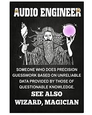 Audio Engineer See Also Wizard Magician 11x17 Poster front