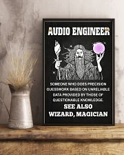 Audio Engineer See Also Wizard Magician 11x17 Poster lifestyle-poster-3
