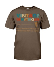 Vintage Geriatrician Knows More Than He Says Classic T-Shirt thumbnail