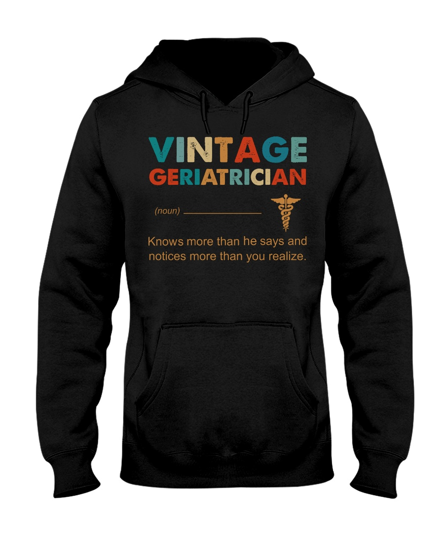 Vintage Geriatrician Knows More Than He Says Hooded Sweatshirt