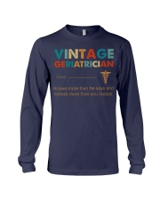 Vintage Geriatrician Knows More Than He Says Long Sleeve Tee thumbnail