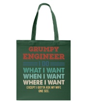 Vintage Grumpy Engineer Do What I Want Tote Bag thumbnail