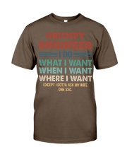 Vintage Grumpy Engineer Do What I Want Classic T-Shirt thumbnail