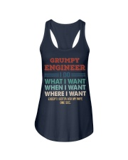 Vintage Grumpy Engineer Do What I Want Ladies Flowy Tank thumbnail