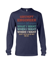 Vintage Grumpy Engineer Do What I Want Long Sleeve Tee thumbnail