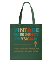 Vintage Emergency Physician More Than He Says Tote Bag thumbnail