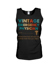 Vintage Emergency Physician More Than He Says Unisex Tank thumbnail