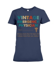 Vintage Emergency Physician More Than He Says Premium Fit Ladies Tee thumbnail