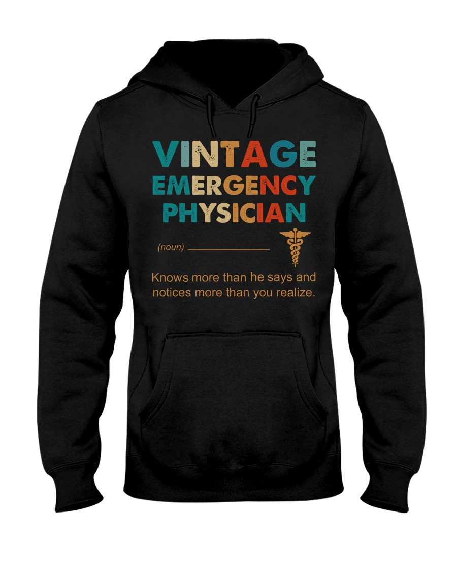 Vintage Emergency Physician More Than He Says Hooded Sweatshirt
