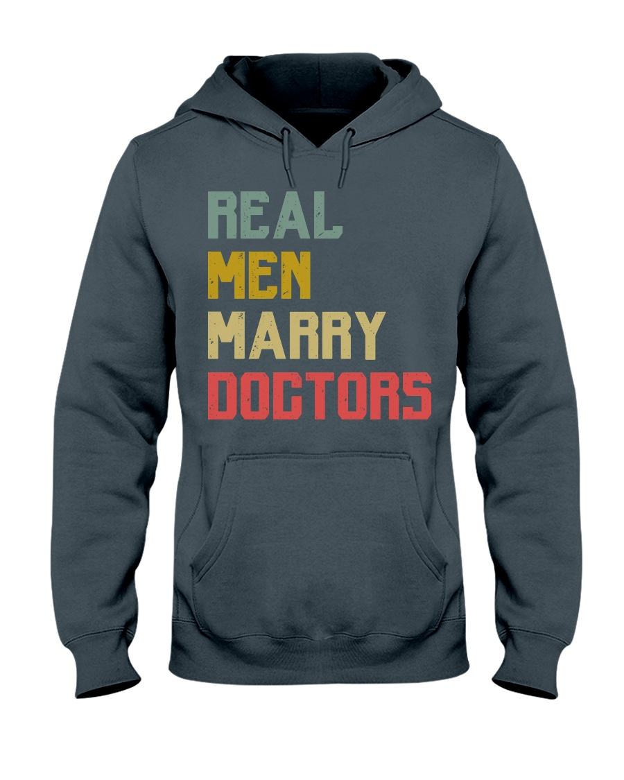 Real Men Marry Doctors Hooded Sweatshirt
