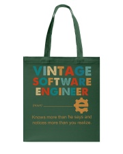 Vintage Software Engineer Knows More Than He Says Tote Bag thumbnail