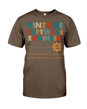 Vintage Software Engineer Knows More Than He Says Classic T-Shirt thumbnail