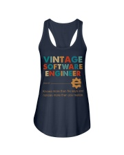 Vintage Software Engineer Knows More Than He Says Ladies Flowy Tank thumbnail
