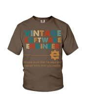 Vintage Software Engineer Knows More Than He Says Youth T-Shirt thumbnail