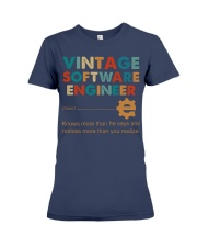 Vintage Software Engineer Knows More Than He Says Premium Fit Ladies Tee thumbnail