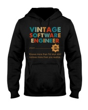 Vintage Software Engineer Knows More Than He Says Hooded Sweatshirt front