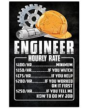 Engineer Hourly Rate 11x17 Poster front