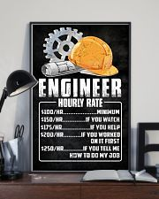 Engineer Hourly Rate 11x17 Poster lifestyle-poster-2