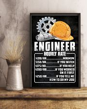 Engineer Hourly Rate 11x17 Poster lifestyle-poster-3