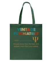 Vintage Psychiatrist Knows More Than He Says Tote Bag thumbnail