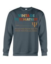 Vintage Psychiatrist Knows More Than He Says Crewneck Sweatshirt thumbnail