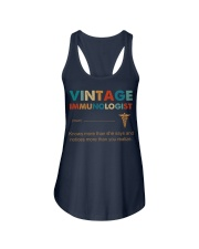 Vintage Immunologist Knows More Than She Says Ladies Flowy Tank thumbnail
