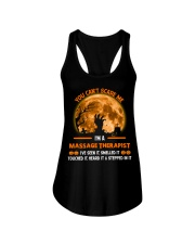 You Can't Scare Me Massage Therapist Ladies Flowy Tank thumbnail
