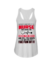 Never Disrespect A Nurse They Can Kill You Ladies Flowy Tank thumbnail