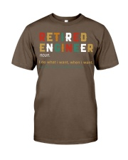 Retired Engineer I Do What I Want Classic T-Shirt thumbnail