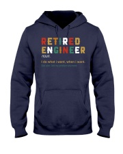 Retired Engineer I Do What I Want Hooded Sweatshirt front