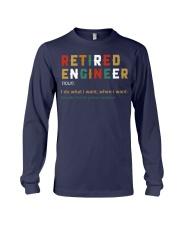 Retired Engineer I Do What I Want Long Sleeve Tee thumbnail