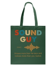 Sound Guy Knows More Than He Says Tote Bag thumbnail
