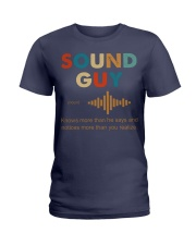 Sound Guy Knows More Than He Says Ladies T-Shirt thumbnail