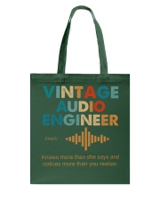 Vintage Audio Engineer Knows More Than She Says Tote Bag thumbnail