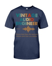 Vintage Audio Engineer Knows More Than She Says Premium Fit Mens Tee thumbnail
