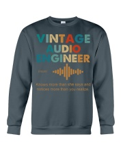 Vintage Audio Engineer Knows More Than She Says Crewneck Sweatshirt thumbnail