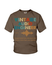 Vintage Audio Engineer Knows More Than She Says Youth T-Shirt thumbnail