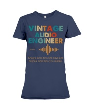 Vintage Audio Engineer Knows More Than She Says Premium Fit Ladies Tee thumbnail
