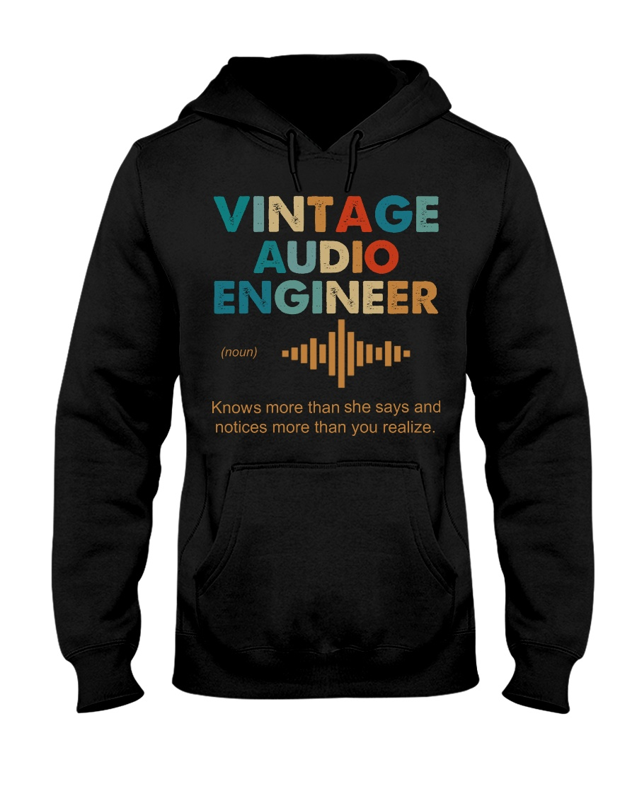 Vintage Audio Engineer Knows More Than She Says Hooded Sweatshirt
