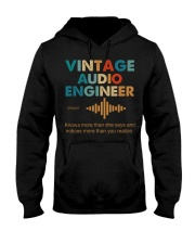 Vintage Audio Engineer Knows More Than She Says Hooded Sweatshirt front