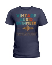 Vintage Audio Engineer Knows More Than She Says Ladies T-Shirt thumbnail
